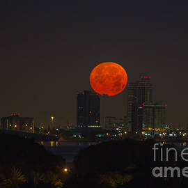 Rene Triay Photography - Super Moon Setting Over Miami