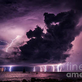 Marko Korosec - Supercell lightning over the sea