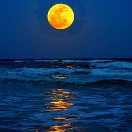 Jeff at JSJ Photography - Supermoon Rising on Navarre Beach 20120505C