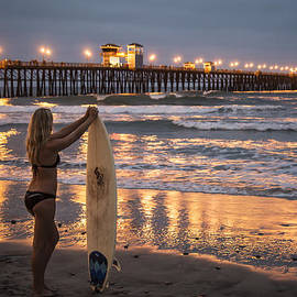 Lee Kirchhevel - Surfer Girl at Oceanside Pier 1