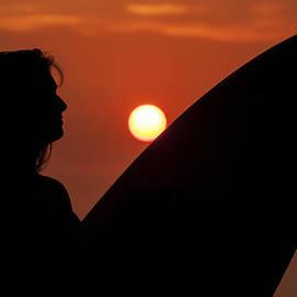 Lee Kirchhevel - Surfer Girl Silhouette