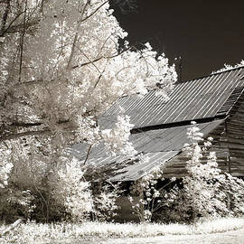 Kathy Fornal - Surreal Infrared Sepia Barn Farm Landscape