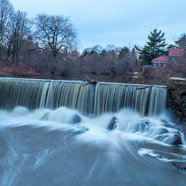 Stroudwater Falls Photography - Surreal Maine Warm Winter Waterfall