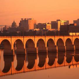 Blair Seitz - Susquehanna River Reflections Harrisburg Skyline