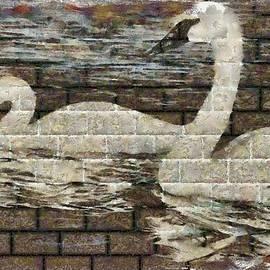 Mario Carini - Swan Wall Grafitti