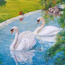 Peter Jean Caley - Swans Mirage
