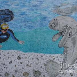 Gerald Strine - Swimming with the Manatee