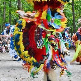Kim Bemis - Swirling Colors - Nanticoke Powwow Delaware