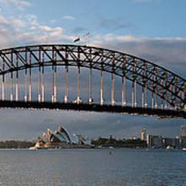 Geoff Childs - Sydney Harbour Bridge at Dawn.  Art photo digital download and wallpaper screensaver. DIY Print.