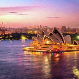 Georgiana Romanovna - Sydney Opera House At Dusk