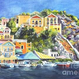Carol Wisniewski - Symi Harbor The Grecian Isle