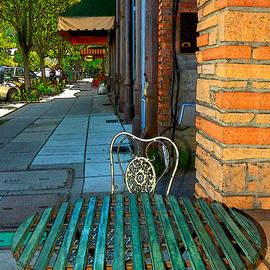 Table On A Sidewalk