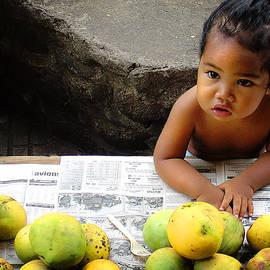 Julie Palencia - Tahitian Baby in Market