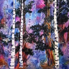 Eva Nichols - Tahoe Trees in Winter