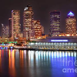 Jon Holiday - Tampa Skyline at Night Early Evening