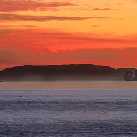 Denise Dube - Tanker Sunset and Catalina By Denise Dube