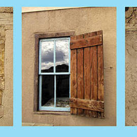Ann Powell - Taos Three Windows on Turquoise