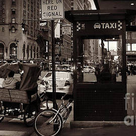 Miriam Danar - Taxi Stand with Pedicab and Woman