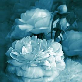 Jennie Marie Schell - Teal Blue Roses Bouquet
