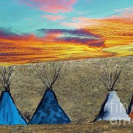 Janette Boyd - Teepees at Sunset