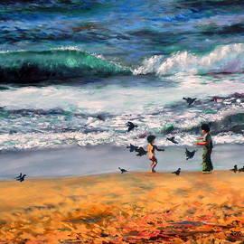 Uma Krishnamoorthy - Tel aviv beach