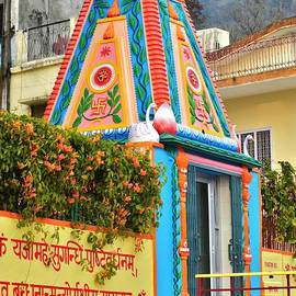 Kim Bemis - Colorful Temple - Rishikesh India