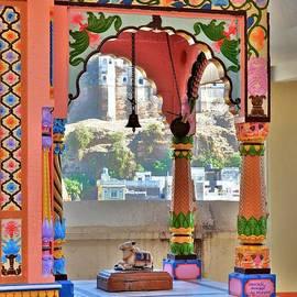 Kim Bemis - Colorful Temple Entrance - Omkareshwar India