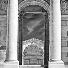Paul W Faust -  Impressions of Light - Temple Steps - B W