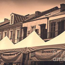 Kathleen K Parker - Tents at Tomato Fest in French Quarter