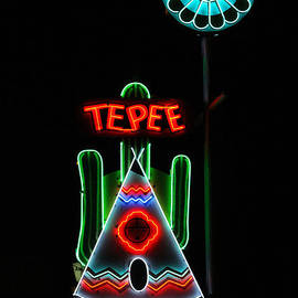 Catherine Sherman - Tepee Curios Neon Sign
