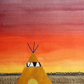 Sol Luckman - Tepee or Not Tepee original painting