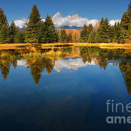 Reflective Moment Photography And Digital Art Images - Teton Reflections
