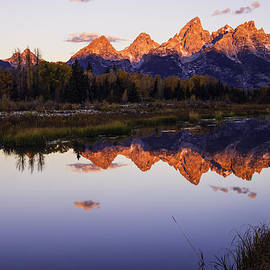Vishwanath Bhat - Teton Sunrise as seen from Schwabachers Landing