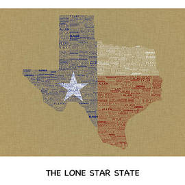 Tawnya Apuan - Texas Typography Map Poster
