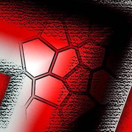 Mario Perez - Texture in White Black and Red Design