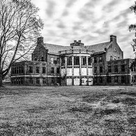 Bill Cannon - The Abandoned Building 17  - Norristown State Hospital in Black