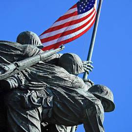 Cora Wandel - The American Flag Atop Mount Suribachi -- The Iwo Jima Memorial