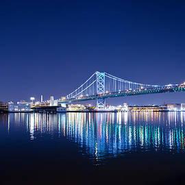 Bill Cannon - The Benjamin Franklin Bridge at Night