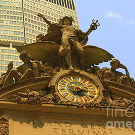 Photographic Art and Design by Dora Sofia Caputo - The Big Clock at Grand Central Station - New York City