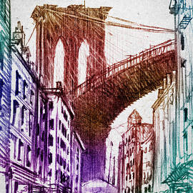 Aged Pixel - The Brooklyn Bridge