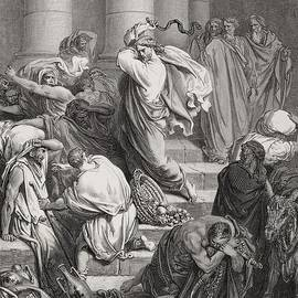Gustave Dore - The Buyers and Sellers Driven Out of the Temple