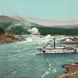 Blue Monocle - The Cascades of the Columbia River  - Vintage Photo from circa 1901