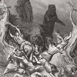 Gustave Dore - The Children Destroyed by Bears