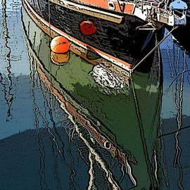 Rumyana Whitcher - Berthed Boat Reflection