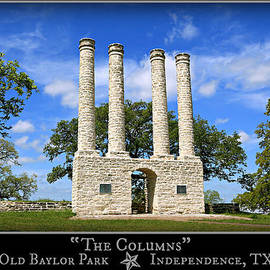 Stephen Stookey - The Columns of Old Baylor at Independence -- Color Poster