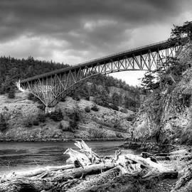 David Patterson - The Deception Pass Bridge II BW