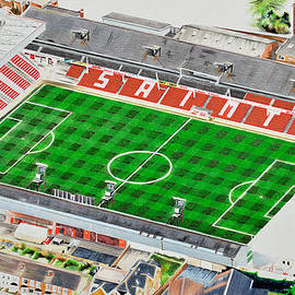 Brian Casey - The Dell Stadia Art - Southampton FC