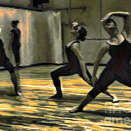 Ted Guhl - The Drama of Dancers Rehearsing