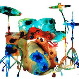 Sharon Cummings - The Drums - Music Art By Sharon Cummings