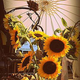 Photographic Art and Design by Dora Sofia Caputo - Sunflowers At The Farmer
